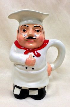 Plump White Chef Bistro italiano Hand Painted Ceramic Pitcher, 88967 by ACK by ACK. $16.99. Tuscany Plump White Chef italiano Hand Painted Ceramic Pitcher, 88967 by ACK. Tuscany Plump White Chef italiano Hand Painted Ceramic Pitcher, 88967 by ACK Dishwasher and microwave safe.. Save 48%!