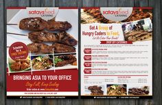 Create a flyer for an Asian Fusion Catering company Postcard, flyer & print design by chai^o Catering Design, Flyer Printing, Catering Companies, Print Layout, Chai, Print Design, Menu, Asian, Diet