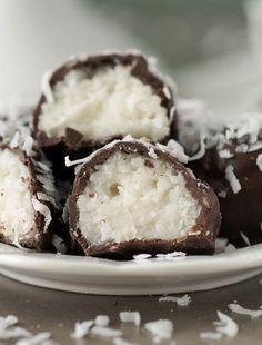 Coconut Bon Bons in Dark Chocolate
