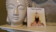 Check out this item in my Etsy shop https://www.etsy.com/listing/289931529/ceramic-tile-namaste-wall