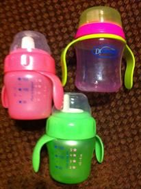 StorkBrokers.com: 3 bay girl sippy cups, Baby, $10.00