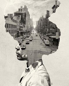 36 Trendy Ideas For Landscape Collage Photography Double Exposure Collage Kunst, Art Du Collage, Collage Portrait, Collage Illustration, Collage Design, Collage Artists, Creative Illustration, Photomontage, Where Is My Mind
