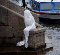 Tape sculpture by Mark Jenkins. | #Art