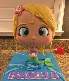 """ finally done! Anti Gravity Cake, Gravity Defying Cake, Mermaid Baby Showers, Baby Mermaid, Fondant Cakes, Cupcake Cakes, Pinwheel Tutorial, Chibi, Cake Frame"