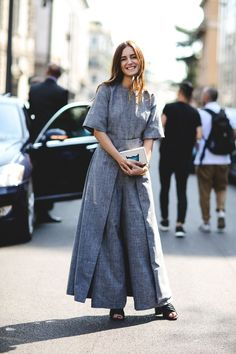 60 Head-To-Toe-Amazing Street Style Snaps From Milan Fashion Week #refinery29  http://www.refinery29.com/2015/09/94857/milan-fashion-week-spring-2016-street-style-pictures#slide-18  Perfectly jumpsuited....