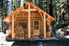 GLACIER CIRCLE CABIN Remote and difficult to access hut in the Dawson Range near Rogers Pass. Used for mountaineering and ski touring. Small Log Cabin, Tiny Cabins, Tiny House Cabin, Little Cabin, Log Cabin Homes, Cabins And Cottages, Cozy Cabin, Little Houses, Log Cabins