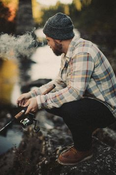 Manly Outdoor Style - You are in the right place about Accessories grunge Here we offer you the mo - Rugged Style, Rugged Men, Outdoor Style, Outdoor Men, Looks Style, My Style, Style Men, Look Man, Mode Masculine