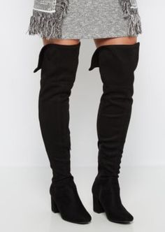 37f420beb6e Micro Suede Chunky Heel Over-The-Knee Boot. Rue 21Walking ...