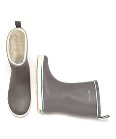 Charcoal Gray Skerry Vinter Shiny Rain Boots - Women by Tretorn