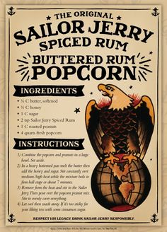 sailor jerry spiced rum buttered rum popcorn