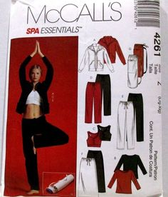 ff8005e1b8 Details about McCalls Sewing Pattern 4261 Sizes Lrg - Xlg Misses Jacket Tops  Pants Skirt Bag