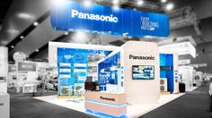 Panasonic exhibition stand designed and constructed by Expocentric. expocentric.com.au