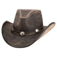 48927dc6d5d0fa Cyclone-Buffalo Band (Asphalt) - American Hat Makers Leather Cowboy Hats,  Western
