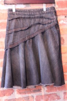 7 for all mankind Denim A-Line Skirt Size 24 Size 0 #7ForAllMankind #ALine
