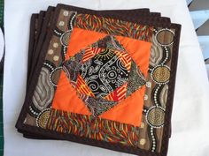 Australian Quilted Placemats Australian by Fiberartplus on Etsy, $30.00