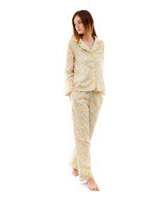 Liberty Print Elysian Cotton Long Pyjama Set.