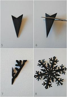 How to make a tissue paper snow flake from mamas kram.