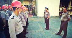 Provos Polda Jatim Hukum Anggota Tak Disiplin Pakai Helm Bodoh Tribratanews Polda Jatim