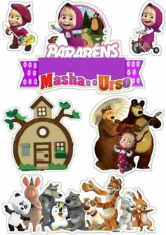 Bear Birthday, Birthday Board, 3rd Birthday, Masha Et Mishka, Marsha And The Bear, Frozen Coloring, Bear Coloring Pages, Paper Cake, Paper Dolls
