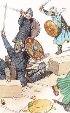 varangians attack an arab fortress on sicily 1040 ad