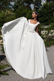 Sateen wedding dress Leticia -  Tina Valerdi 2017