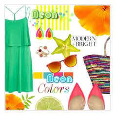 """""""Neon Bright"""" by mcheffer ❤ liked on Polyvore"""