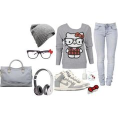 cute hello kitty outfit !