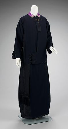 1912-1915, United Kingdom - Suit by Lucile - Wool, silk, metal