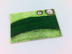 Green Monster Original ACEO Drawing by Aaron Butcher on Etsy, $5.00