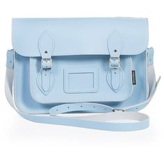 Zatchels Bag Satchel Blue ($90) ❤ liked on Polyvore featuring bags, handbags, purses, accessories, bolsas, blue, leather satchel handbags, leather handbags, blue handbags and blue shoulder bag
