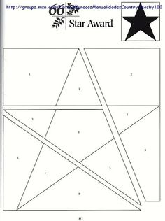 star award - paper piecing pattern