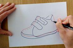 ¿Qué te gusta realizar más, diseños de calzado de niño/a, caballero o señora? Si quieres ser diseñador de calzado y especializarte en deportivos de niño o reinventar tu método de dibujo tan solo tienes que ver nuestro tutorial del boceto de una zapatilla de niño. #reinventandoelcalzado #cursosonline #diseño #calzado #zapatillas #boceto #dibujo