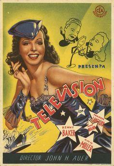 251.  Televisión. Dirigida por John H. Auer. Barcelona: Martí y Marí, [1940].  #ProgramasdeMano #BbtkULL #Musicales #DiadelLibro2014