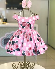 i love this cute dress for abby - Baby Dress have you noticed that polka African Dresses For Kids, Little Girl Dresses, Girls Dresses, Baby Frocks Designs, Kids Frocks Design, Little Girl Fashion, Kids Fashion, Kids Gown, Baby Dress Patterns