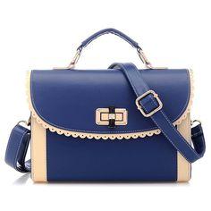 Amazon.com: Coofit® Ivory Girl's Sweet Fashion Vintage Contrast Color PU Shoulder Bag Handbag: Clothing