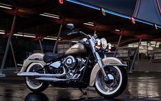 Download imagens A Harley-Davidson Softail Deluxe, 2018 motos, sbk, americana de motocicletas, A Harley-Davidson