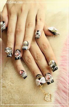 Items similar to Night of Gorgeous ( Rhinestone crystal - Nail art )Not include love charm on Etsy