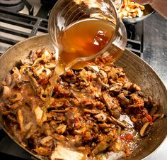 Porcini Broth (for Fresh  Wild Mushroom Stew)