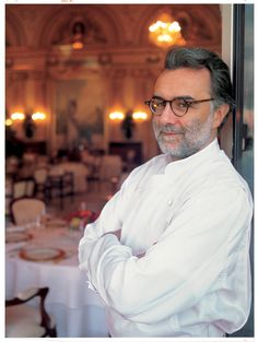 Christopher tells Sookie that she's the best chef after Alain Ducasse. Ducasse operates several restaurants around the world, including theJules Verne Restaurant at the Eiffel Tower and Alain Ducasse at the Dorchester in London, a Michelin 3-starred restaurant.