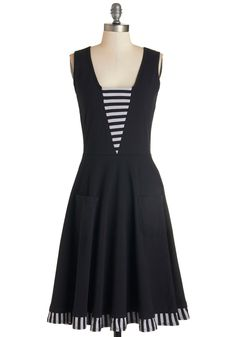 Sailboat-load of Fun Dress in Black
