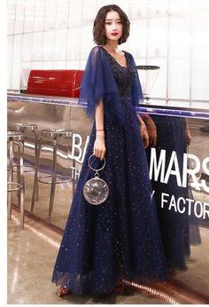 blue tulle formal dress long #blueformaldress #formaldress