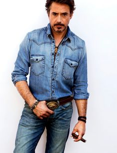 Denim on denim. Yes, please.    ALL IS RELATIVE: Robert Downey Jr. GQ Style UK Fall/Winter 2011-2012