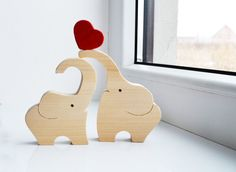 Amor madera elefantes juguete del rompecabezas rompecabezas