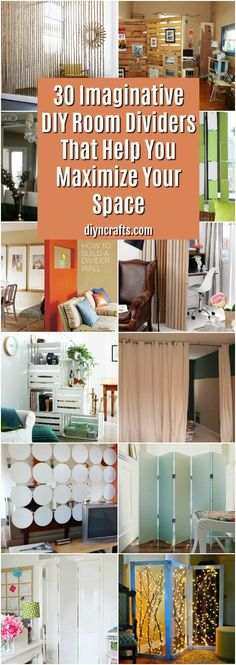 Living Room Bedroom Divider Unique 30 Imaginative Diy Room Dividers that Help You Maximize Your Remodeling Mobile Homes, Home Remodeling, Diy Projects Room, Bedroom Divider, Build A Wall, My New Room, Diy Organization, Home Renovation, Decoration