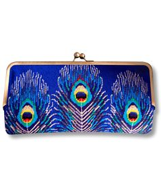 Pair Peacock Decorations Deluxe Printing Small Purse Portable Receiving Bag
