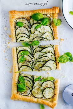 Cream cheese & zucchini tart