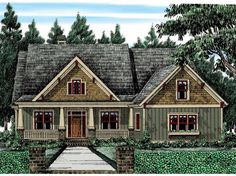 Cottage House Plan with 2336 Square Feet and 4 Bedrooms from Dream Home Source | House Plan Code DHSW53515