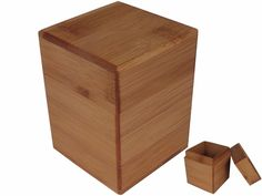 mrslins... Chic Back to Basic Bamboo Tea Canister