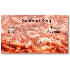 Fresh Shrimps or Prawn on Display Business Card Templates