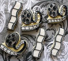 cookies - roll of movie reels and films